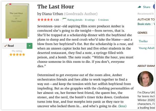 The Last Hour Goodreads Description